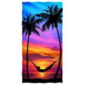 Palm Tree Sunset Beach/shower Towel