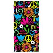 Peace, Love, and Flowers Beach/Shower Towel