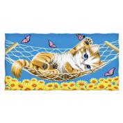 Brand New 100% Cotton KITTEN CAT BUTTERFLY Beach/Shower Towel