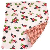Japanese Handkerchief Wash Towel Camellia 40cm X 34cm Cool Kimono Design Print