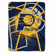 Indiana Pacers 150cm x 200cm Royal Plush Raschel Throw Blanket - Shadow Play Design