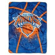 New York Knicks 150cm x 200cm Royal Plush Raschel Throw Blanket - Shadow Play Design