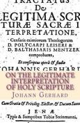 On the Legitimate Interpretation of Holy Scripture