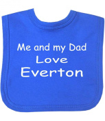 Me and my Dad Love Everton Hook and loop Baby Bib in 4 Colours - 100% Cotton
