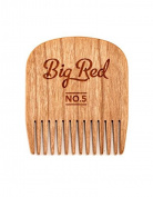 Big Red Beard Combs - Handcrafted No. 5 Beard Comb (Available in Cherry or Walnut)