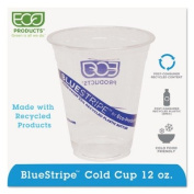 ECO-PRODUCTS,INC. BlueStripe Recycled Clear Plastic Cold Cups ECOEPCR12