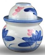 Porcelain Pickling Jar with 2 Lids Fermenting Pickling Kimchi Crock Korean Chinese