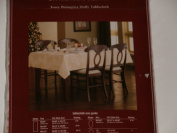 St. Nicholas Square Ivory Poinsettia Holly Tablecloth