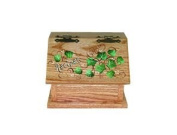 Solid Oak Recipe Box, Ivy Design, Amish Made