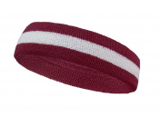 COUVER 2 Colour Stripe Terry Sports Headband