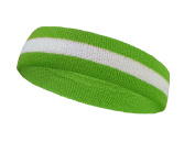 COUVER 2 Colour Stripe Terry Sports Headband