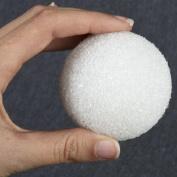Package of 24 White Styrofoam Balls 6.4cm in Diameter