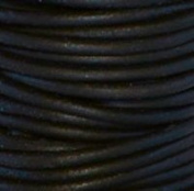 """#402 Natural Black Round Leather Cord 1.5mm (1/16"""") x 10 m"""