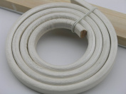 1 Metre Soft 10.0x6.0mm Metallic Pearl White Licorice Real Leather Cord