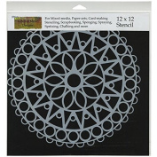 Crafters Workshop Template, 30cm by 30cm , Stained Glass