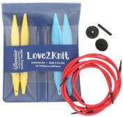 Love2Knit Interchangeable Knitting Needle Set, US 17 & 19