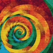 Spiral Staircase Cross Stitch Pattern - Beautiful Rainbow of Colours in the Cross Stitch Design - Fractal Digital Art Style