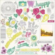 My Minds Eye Jubilee Sherbet Chipboard Elements, 30cm by 30cm , Peace