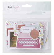 American Crafts 370099 Dear Lizzy Fine and Dandy Gold Foil Ephemera Accents