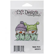 C.C. Designs Meoples Cling Stamp, 7.6cm by 5.7cm , Snow Cute