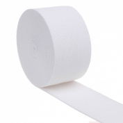 Cotowin 3.8cm Wide White Knit Heavy Stretch High Elasticity Elastic Band 5 Yards