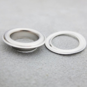 """Bluemoona 100 Sets - Grommet Eyelets 17.5mm 11/16"""" With Washer Canvas Self Backing For Bags Shoes Leather Craft DIY"""