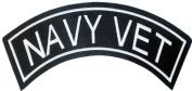 Military & Saying Rocker Patches (NAVY VET) Top Rocker