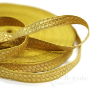 1.3cm Gold Geometric Bullion Braid Trim
