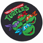 Teenage Mutant Ninja Turtles Movie Cartoon Superhero Logo Kid Baby Boy Jacket T shirt Patch Sew Iron on Embroidered Symbol Badge Cloth Sign Costume By Prinya Shop