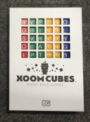 Xoom Cubes White by BAXBO Word Race Dice Game Pack A (Primary Colours) Second Edition