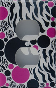 Zebra Print Dot Outlet Switch Plate Covers / Childrens Animal Print Wall Decor with Zebra Print, Hot Pink and Black Dots