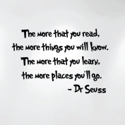 The More Than You Read... Dr. Seuss Wall Kids Nursery Decal Art(70cm Wide X 48cm High) 1211