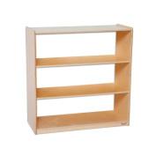 Wood Designs Kids Play Toy Book Plywood Organiser Wd12936Ac Bookshelf With Acrylic Back - 90cm H
