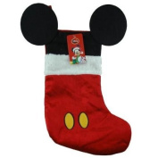 Disney Mouse Ears 46cm Velour Christmas Stocking with Plush Cuff