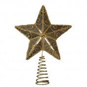 Kurt Adler 16cm Gold Wire Star Treetop
