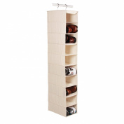 Richards Homewares Hanging Ten Shoe Large Shelf Organiser-Canvas/Natural 130cm x 36cm x 20cm