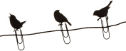 BIRDS ON A WIRE Picture Hangers, Set of 8