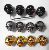 Kmise pure0035 4 x Skull Head Volume Tone Pot Control Knob for Gibson LP Guitar with Wrench