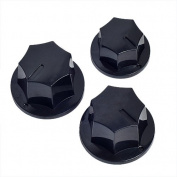 Kmise A0531 Vintage Style Knobs Black for Jazz Bass