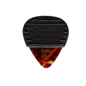 PickWorld MG3C-4T MojoGrip Rubber Grip Thin .46mm Celluloid Guitar Pick, Pack of 3, Tortoise Shell