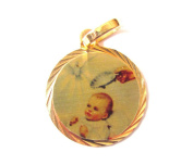 Blessed By Pope Francis Baptism Medal Ready to Be Engraved Beautiful Keepsake