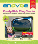 Car Sun Shade (2 Pack) for SUVs, MiniVans and Large Sedans - Premium Baby Car Window Shades are best for blocking over 97% of Harmful UV Rays and protecting your child from sunlight and glare - Static Cling Car Sunshades easily apply without suction cu ..