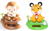 ~Cute~ Tiger & Monkey on the Tropical Beach - Solar Toy