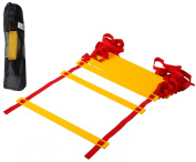 CQ Wellness Adjustable Flat Rung Agility Ladder with Free Carry Bag