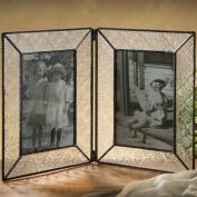 J Devlin Photo Frame 4x6 Double Hinged Vintage Glass