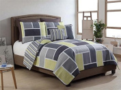 Victoria Classics 7-Piece Morgan Quilt Set, Queen, Yellow