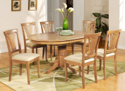 East West Furniture AVON5-OAK-C 5-Piece Dining Table Set, Saddle Brown Finish