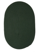 Boca Raton Polypropylene Braided Rug, 0.6m by 1.2m, Dark Green