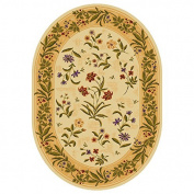 Summer Flowers Beige Oval - 8 X 11 Nylon Area Rug. Printed area rugs are crafted to include vibrant designs and colours combinations to complement any decor. This is also available in 5 x 8 Oval. for a limited time!