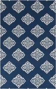 Surya Frontier FT-366 Flatweave Hand Woven 100% Wool Mediterranean Blue 1.5m x 2.4m Global Area Rug